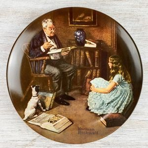 """1984 """"The Story Teller"""" Norman Rockwell Plate"""